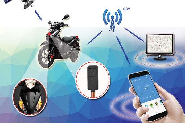 Nơi nào lắp thiết bị định vị GPS xe máy